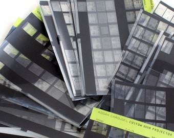 Kodak Microfiche Sheets//Microphotographs of Various Kodak Slide Projectors//Microform