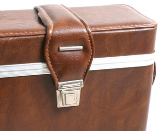 1970's Camera Case//Brown Bag//Carrying Case