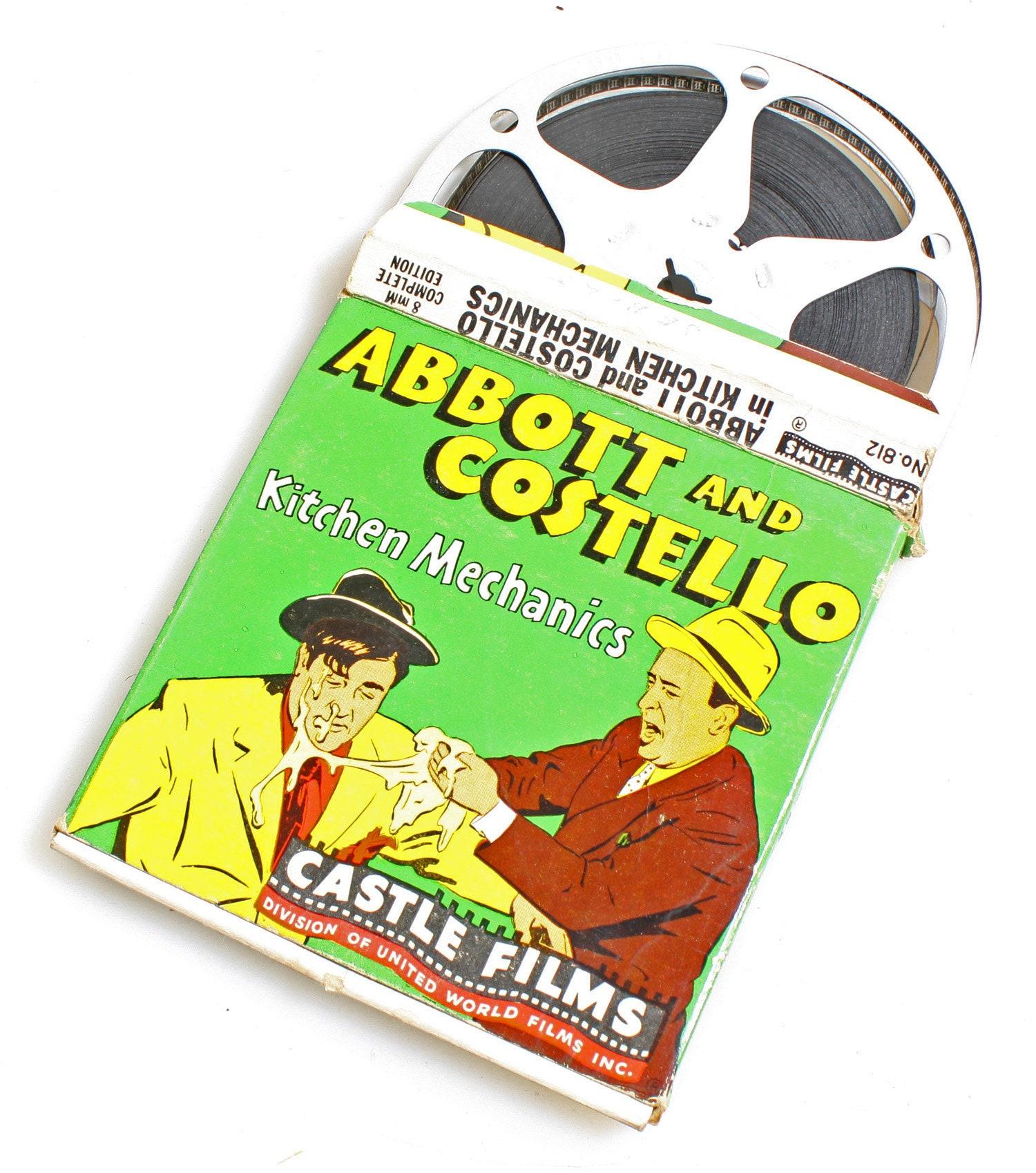Abbott and Costello in Kitchen Mechanics, 8mm Castle Film Movie Reel (No   812)
