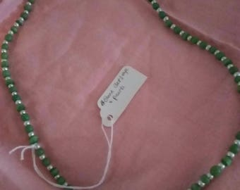 Green cat eye necklace 24 inch