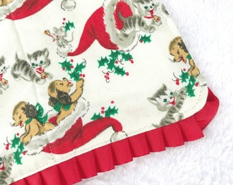 Christmas baby burp cloth for baby gift set new mom gift for baby shower unique gift set adoption gift unusual baby gift for shower gift set
