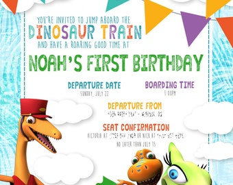 Dinosaur Train Birthday Invitation