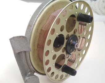 Vintage fishing  inertial reel Kievskaya 1975. Vintage. Soviet Fishing reel. Made in USSR.