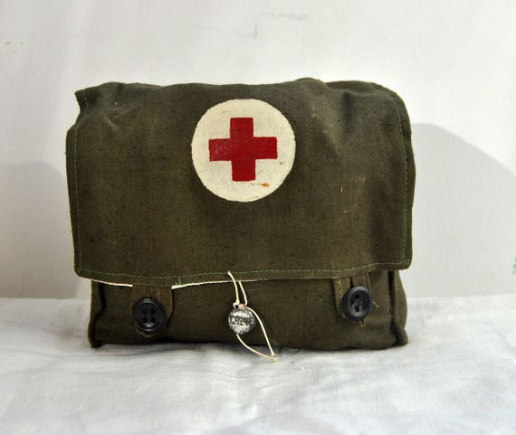 Original Military first-aid kit  Vintage  USSR  1956