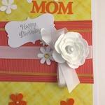 Happy Birthday Card Handmade Card Birthday Card For Mom Blank Card Birthday Card For Her Keepsake Card Birthday Card For Sister