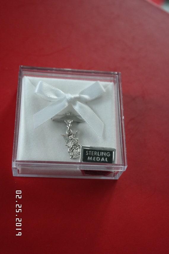 c2842fa63f1d Vintage Estate Sterling Silver Guardian Angel Infant Baby