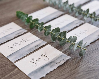 Custom Watercolor Calligraphy Place Cards
