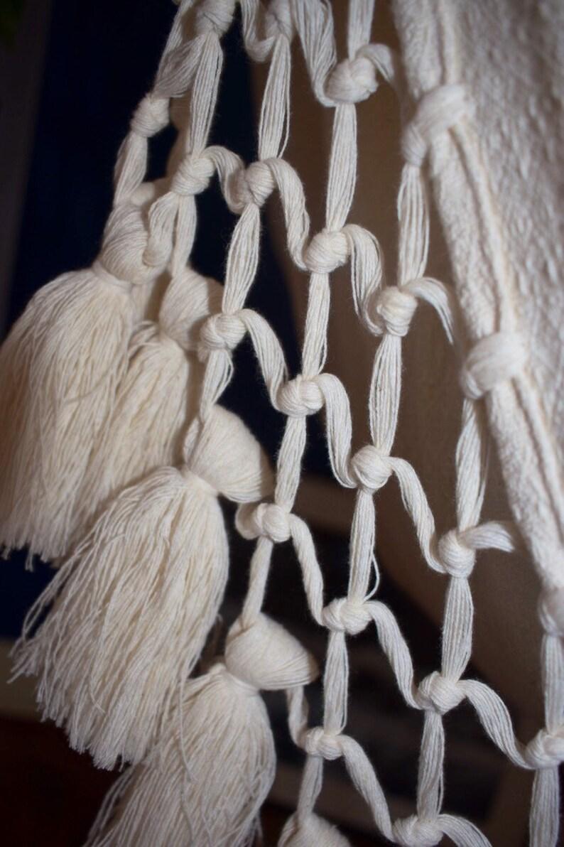 OakWalnut 100/% Cotton Hammock Chair Borlas Finish