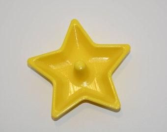 Plat de bijoux en forme étoile imprimée en 3D