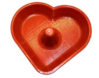 3D imprimé coeur en forme de plat de bijoux