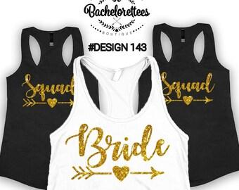 Bride shirt Squad shirts, Bridal party shirts, Bridesmaid gift, bridesmaid shirt, bridal shirts, Bachelorette party shirts, Bridesmaid tank