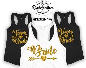 Brides team shirts, Bridal party shirts, Bridesmaid gift, bridesmaid shirt, bridal shirts, Bachelorette party shirts, Bridesmaid tank, bride