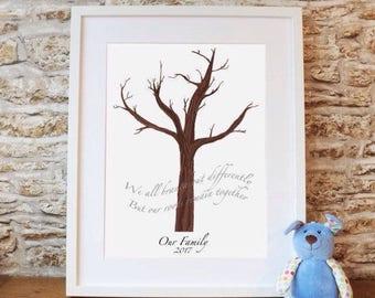 PRINTABLE DIY handprint tree (add your handprints at home)
