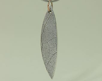 Sage Leaf in fine silver