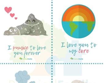Valentine Cards - Geology