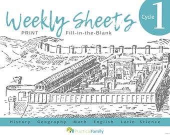CC Cycle 1 Weekly Sheets PRINT