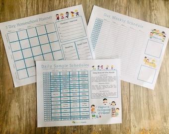 5 Day Homeschool Planner