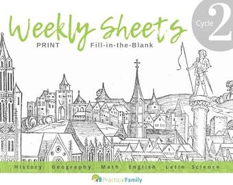 CC Cycle 2 Weekly Sheets PRINT