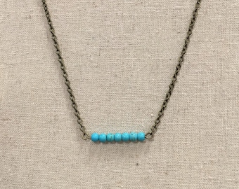 Turquoise Simple Stackable Necklace