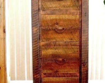 Rustic Barnwood File Cabinet, Solid Wood File Cabinet, Rustic Office  Furniture, Country Roads File Cabinet