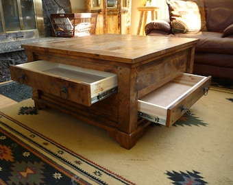 Beau Rustic Coffee Table, Large Coffee Table, Living Room Furniture, Coffee Table