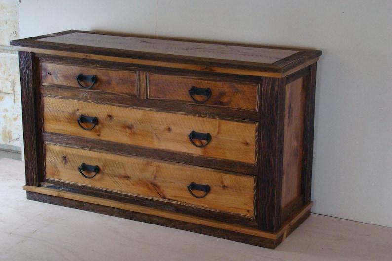 farmhouse rustic dresser solid wood dresser country dresser bedroom furniture Barnwood dresser