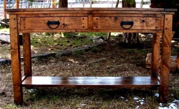 Rustic Sofa table rustic side table rustic sofa side table | Etsy