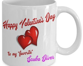 Great Gift Idea for Valentine's Day, Get this Great Mug for your Favorite Scuba Diver