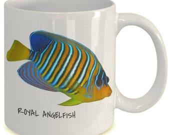 Royal Angelfish - Tropical Fish Ceramic Mug Collection - Great Gift For Scuba Divers