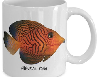 Chevron Tang - Tropical Fish Ceramic Mug Collection - Great Gift For Scuba Divers