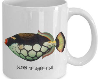 Clown Triggerfish - Tropical Fish Ceramic Mug Collection - Great Gift For Scuba Divers