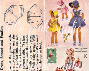 Pattern Girls 03,  Printable Collage Sheet (digital download, printable)