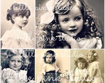 Little Darlings 02,    Printable Collage Sheet (digital download, printable)