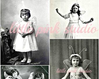 Süße kleine Feen, druckbare Collage Sheet (digital Download, zum ausdrucken)