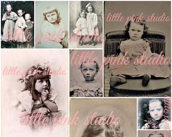 Vintage Kinder 01, druckbare Collage Sheet (digital Download, zum ausdrucken)