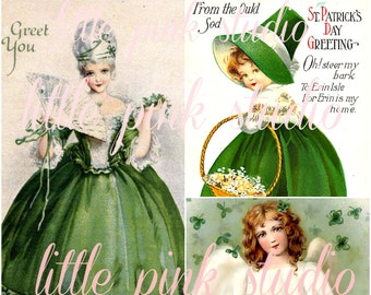 Saint Patrick's Day 01,  Printable Collage Sheet (digital download, printable)
