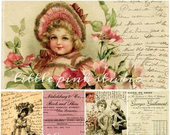 Vergessene Reste, druckbare Collage Sheet (digital Download, zum ausdrucken)