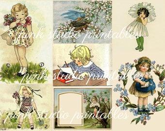 Summer Dreamin',  Printable Collage Sheet (digital download, printable)