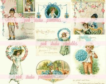 Hübsche Valentines, druckbare Collage Blatt (digitaler Download, druckbare) Journal Karten stecken, Flecken, Bujo, junk-Zeitschrift