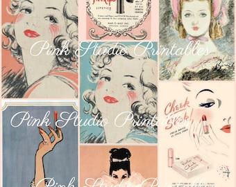Glamorous!    Printable Collage Sheet (digital download, printable)
