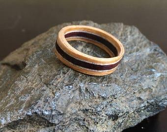 Three-layered Bentwood Ring