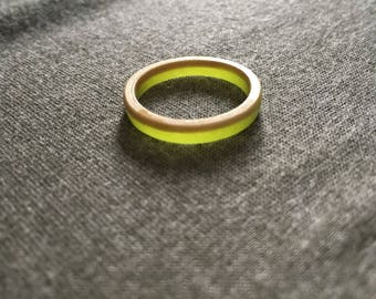 Glow-In-The-Dark Resin Bentwood Ring