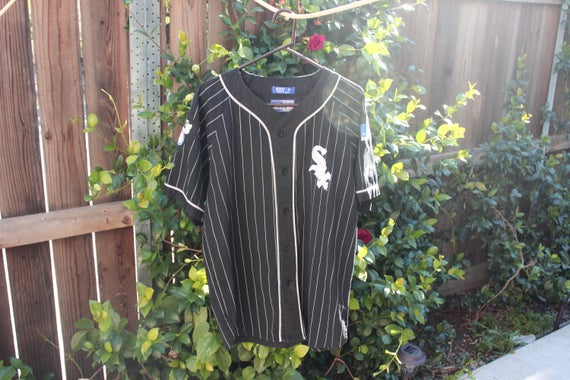 vtg 90s Pinstriped White Sox Baseball Jersey
