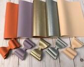 Faux leather sheets. Leather sheets. Faux leather. Craft supplies. Leather supplies. DIY supplies. F529 photo