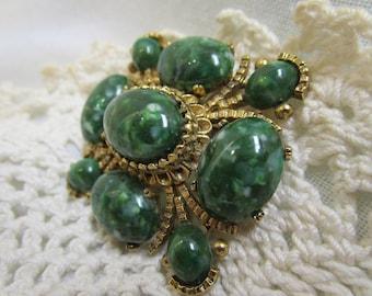 Resin Imitation Jade Brooch Pin Small Collar Brooch For Mothers Day Gift