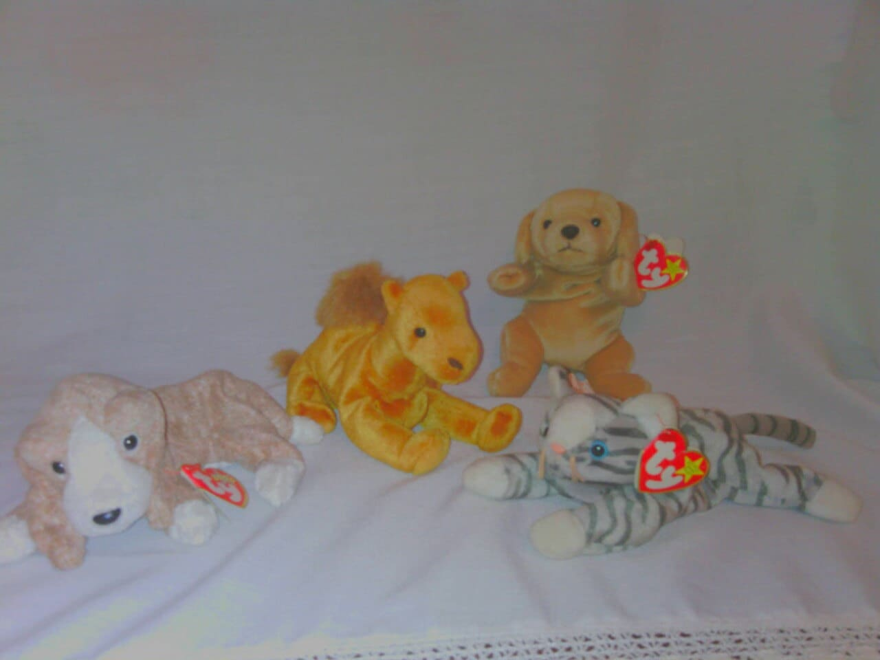 6f332933110 4 Vintage Ty Beanie Babies Featuring Prance And Fetch Retired