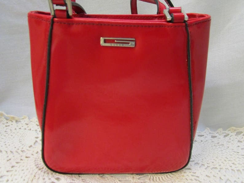 e8d2bb36ff Guess Red Handbag Guess Red Patent Leather Purse Handbag Guess