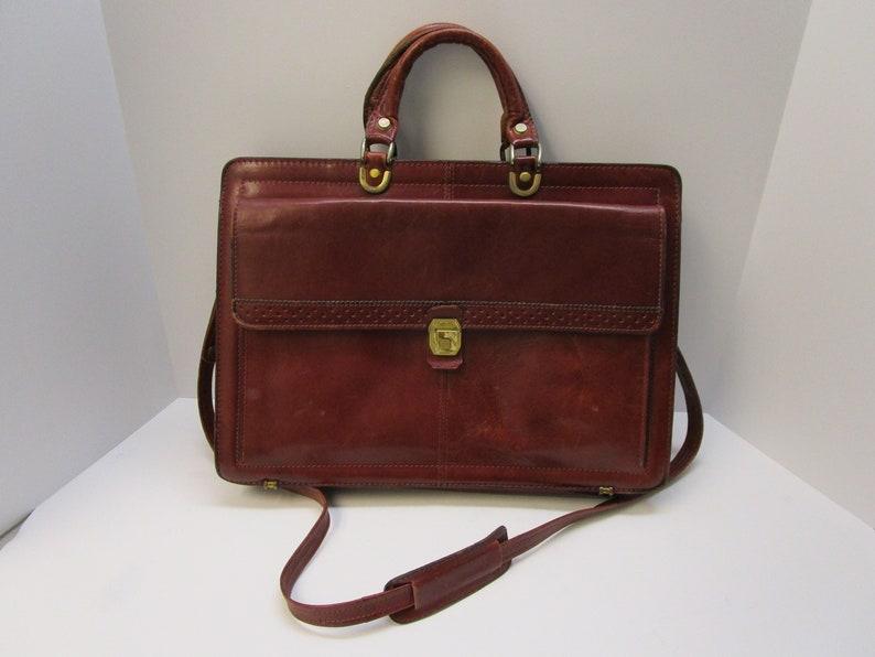 a93517172470 Vintage Renwick Leather Attache Case Burgundy Leather Briefcase Soft Side  Briefcase Vintage Italian Leather Attache Case Leather Salesman