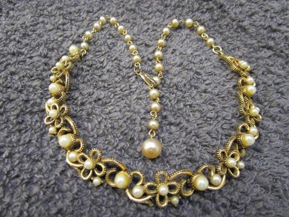 Vintage Victorian Lisner Pearl Choker Lisner Pearl