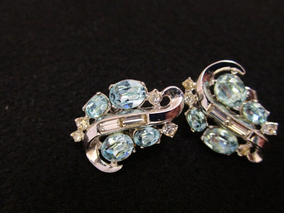 Vintage Crown Trifari Earrings Crown Trifari Pat … - image 2